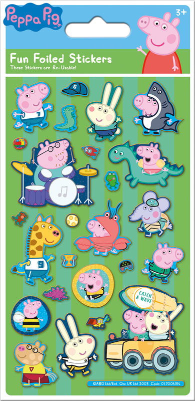 Wholesalers of Peppa Pig George Green Foil Stickers toys