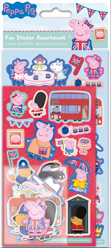 Wholesalers of Peppa Pig Glorious Britain  Assortment Pack Stickers toys