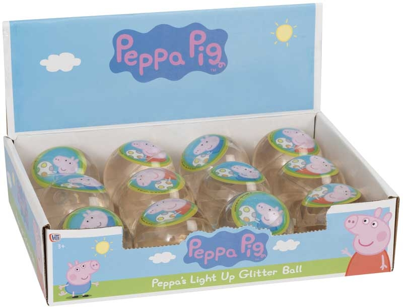 Wholesalers of Peppa Pig Light Up Glitter Ball toys