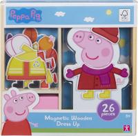 Wholesalers of Peppa Pig Magnetic Wooden Dress-up Set toys image
