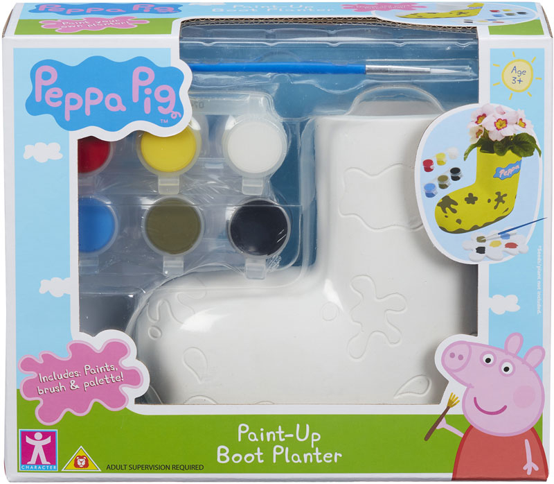 Wholesalers of Peppa Pig Paintable Boot Planter toys