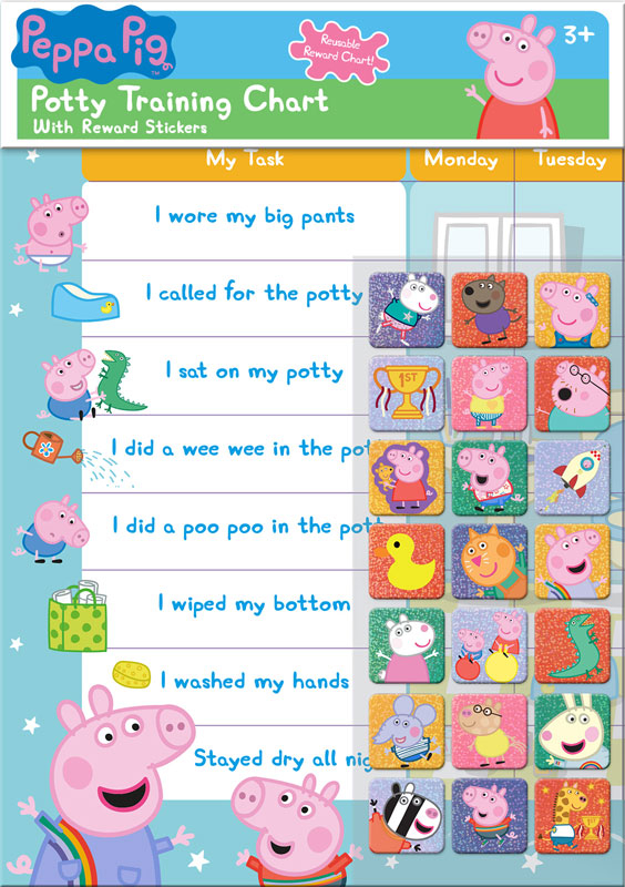 Wholesalers of Peppa Pig Potty And Toilet Reward Chart And Stickers toys