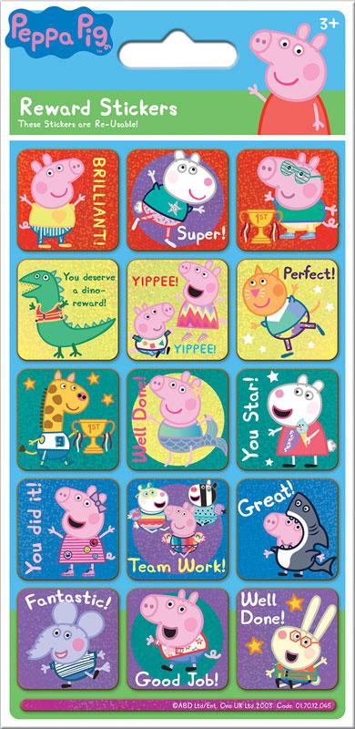 Wholesalers of Peppa Pig Rainbow Reward Reward Stickers toys