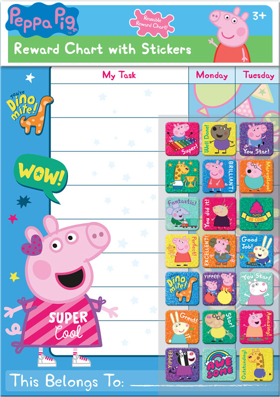 Wholesalers of Peppa Pig Reward Chart And Stickers toys