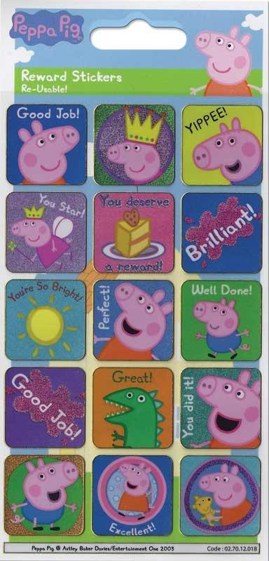 Wholesalers of Peppa Pig Reward Stickers toys