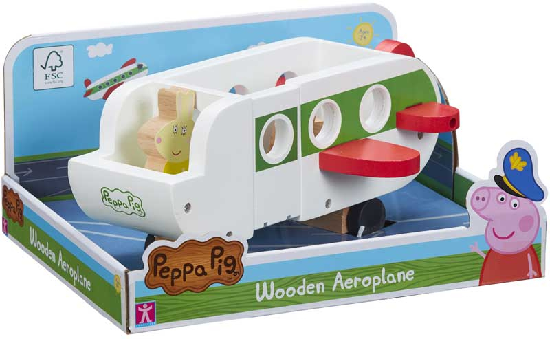 Wholesalers of Peppa Pig Wooden Aeroplane toys