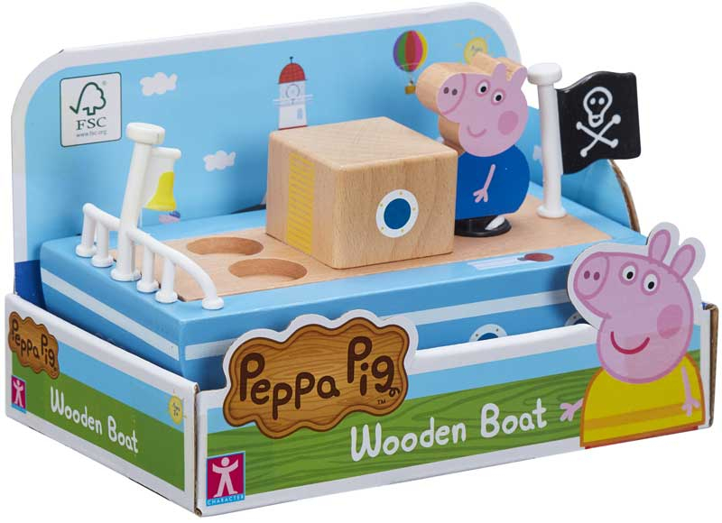 Wholesalers of Peppa Pig Wooden Boat toys
