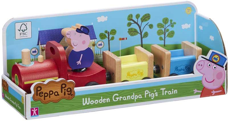 Wholesalers of Peppa Pig Wooden Grandpa Pigs Train toys
