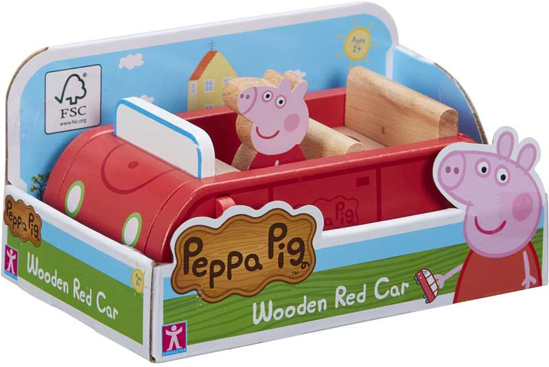 Wholesalers of Peppa Pig Wooden Red Car toys