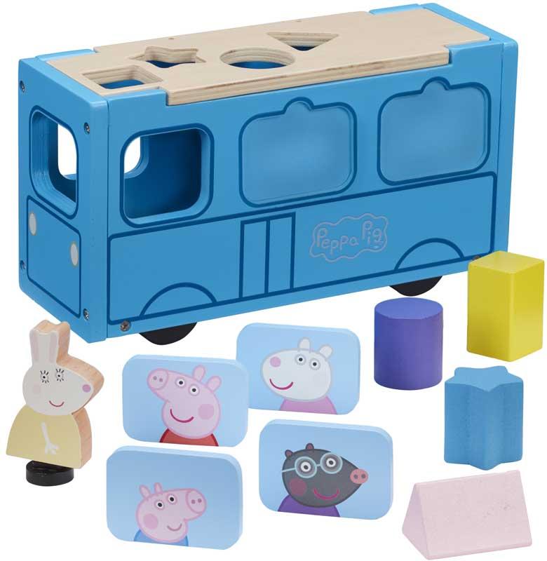 Wholesalers of Peppa Pig Wooden School Bus toys