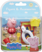 Wholesalers of Peppa Pigs Figure & Accessory Pack - Beach Theme toys image