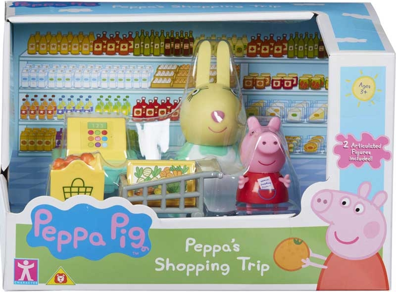 SHOPPING TRIP PLAYSET OR CAMPING PLAYSET NEW PEPPA PIG MESSY KITCHEN PLAYSET