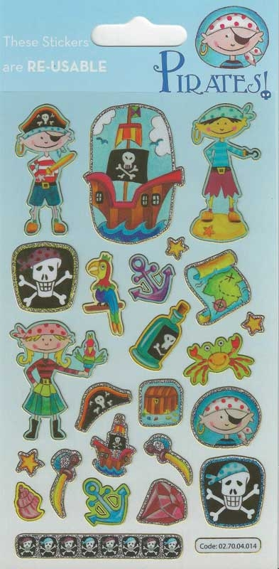 Wholesalers of Pirates Theme Stickers toys