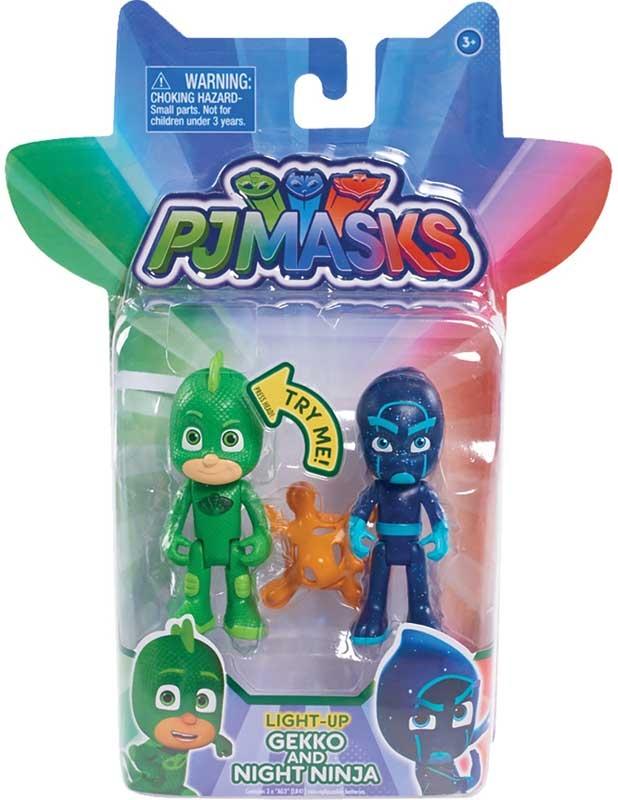 Wholesalers of Pj Masks 2 Pack Figure Set - Gekko & Night Ninja toys