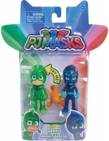 Wholesalers of Pj Masks 2 Pack Figure Set - Gekko & Night Ninja toys image