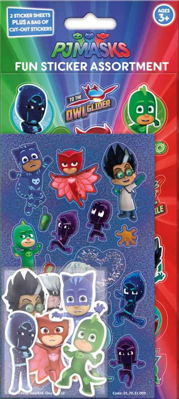 Wholesalers of Pj Masks Assortment Pack Stickers toys