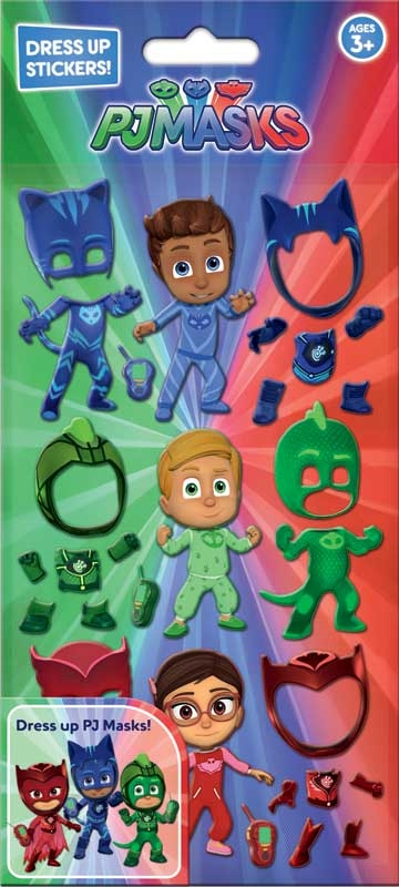 Wholesalers of Pj Masks Dress Up Stickers toys