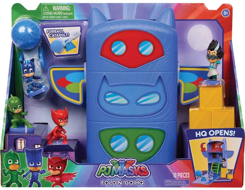 Wholesalers of Pj Masks Fold N Go Headquarters toys