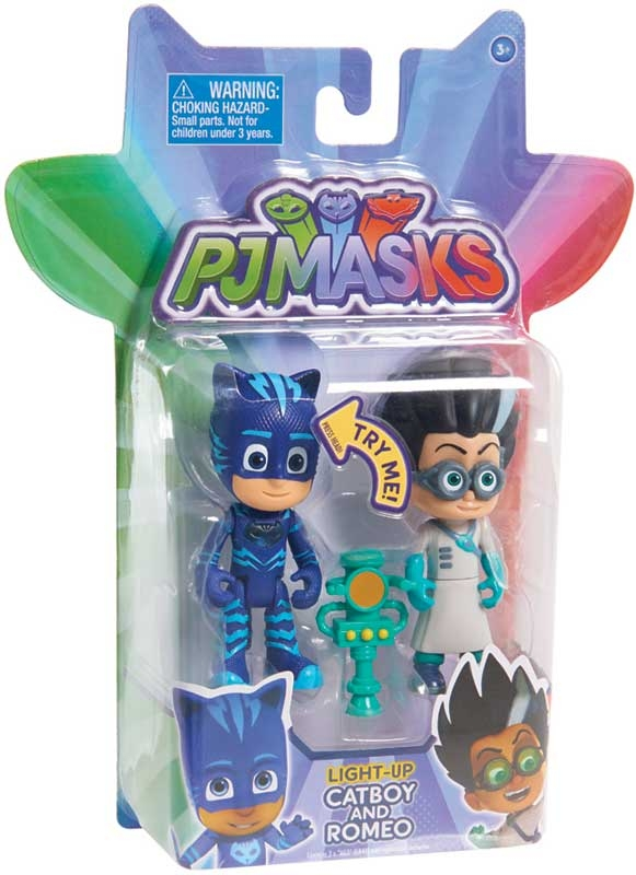 Wholesalers of Pj Masks Light Up Figure 2pk - Cat Boy & Romeo Wave 2 toys