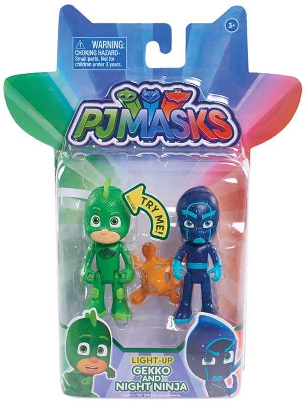 Wholesalers of Pj Masks Light Up Figure 2pk - Gekko & Night Ninja Wave 1 toys