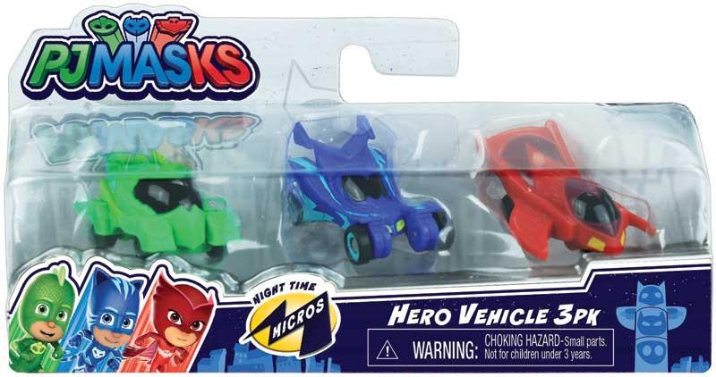 Wholesalers of Pj Masks Night Time Micros Hero Vehicle 3pk toys