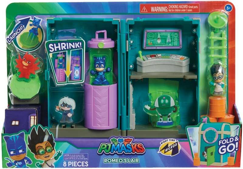 Wholesalers of Pj Masks Nighttime Micros Romeos Lair Playset toys