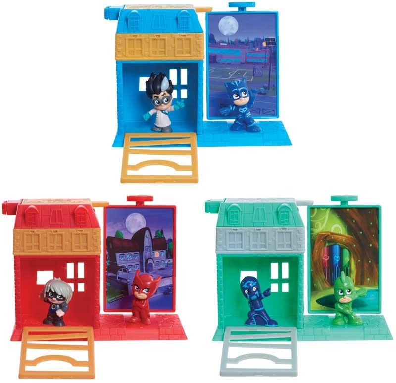 Wholesalers of Pj Masks Nighttime Micros Trap & Escape Asst toys