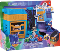 Wholesalers of Pj Masks Nighttime Micros Trap & Escape Playset - Catboy & R toys image