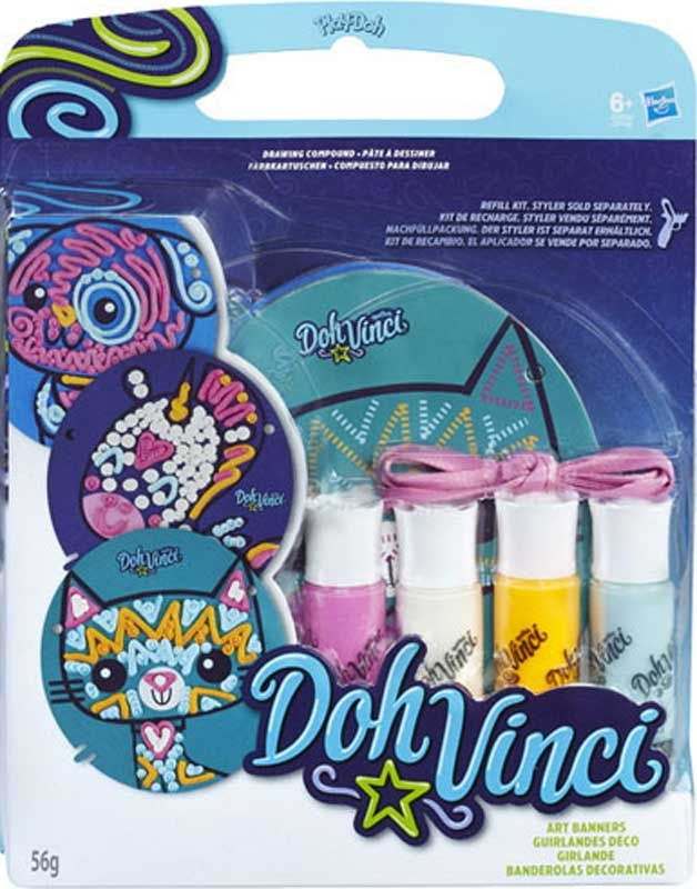Wholesalers of Play-doh Doh-vinci Art Banner Refill Kit Asst toys