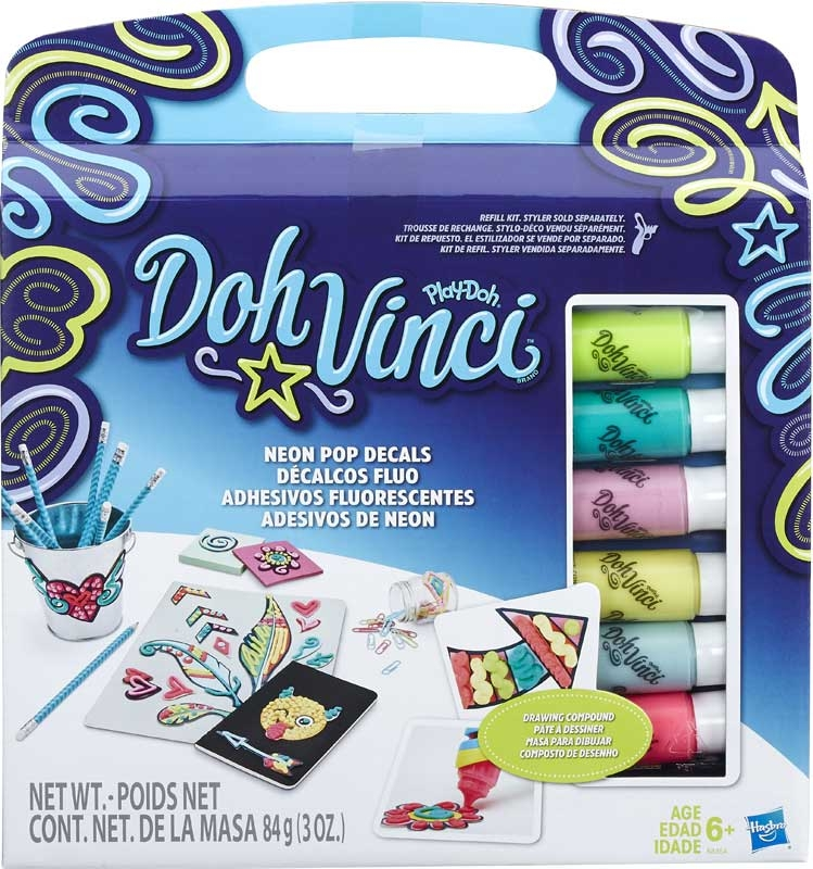 Wholesalers of Play-doh Doh-vinci Neon Pop Decals Refill Kit toys