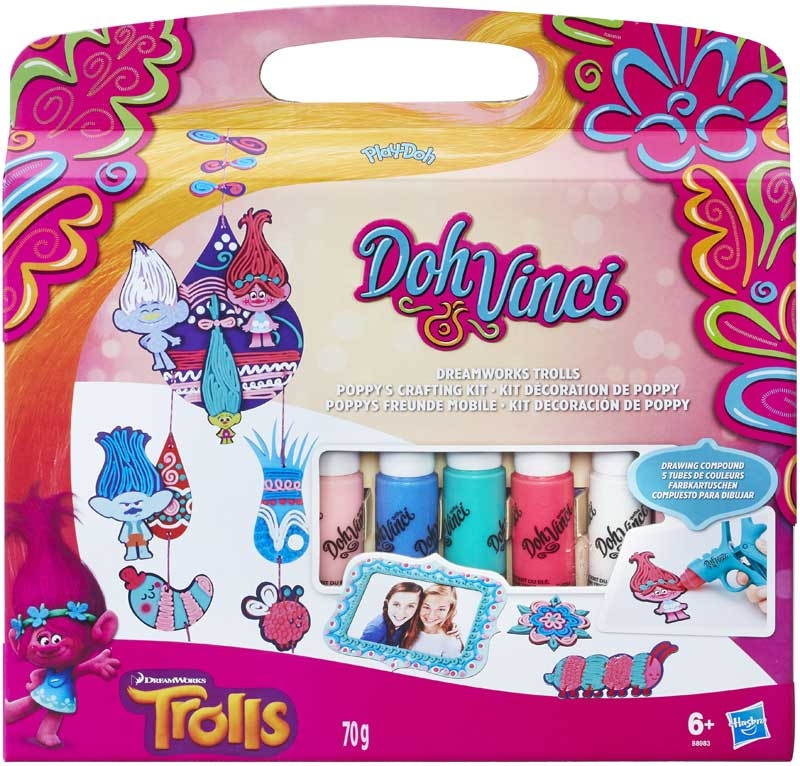 Wholesalers of Play-doh Dohvinci Trolls Poppys Crafting Kit toys