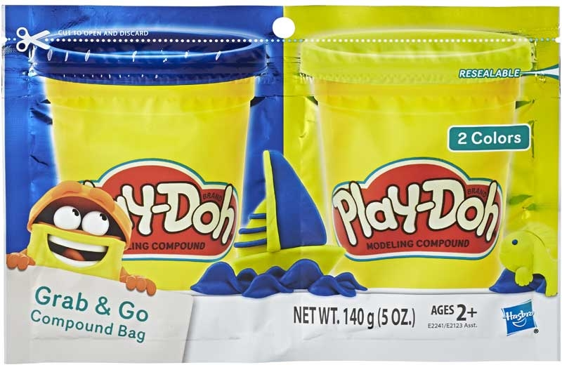 Wholesalers of Play-doh Grab N Go Compound Bag Ast toys