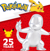 Wholesalers of Pokemon 25th Celebration 3 Inch Silver Charmander toys image 3