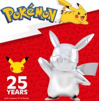 Wholesalers of Pokemon 25th Celebration 3 Inch Silver Pikachu toys image 3