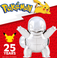 Wholesalers of Pokemon 25th Celebration 3 Inch Silver Squirtle toys image 3