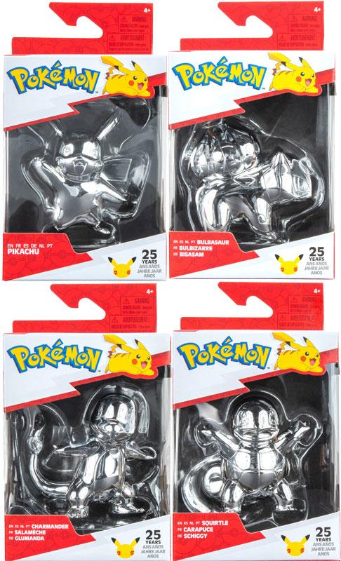 Wholesalers of Pokemon 25th Celebration Silver Figures Asst toys