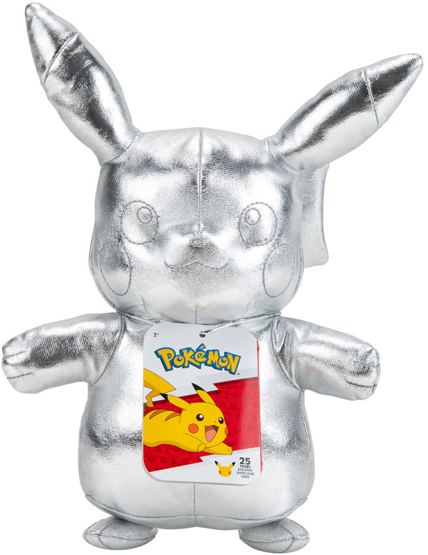 Wholesalers of Pokemon 25th Celebration Silver Pikachu Plush toys