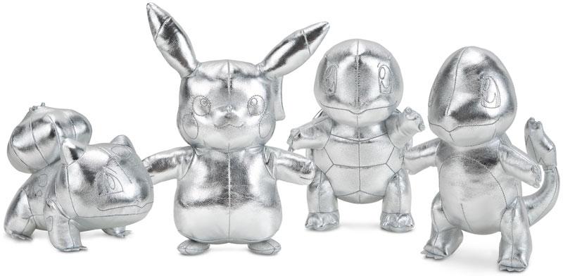 Wholesalers of Pokemon 25th Celebration Silver Plush Asst toys