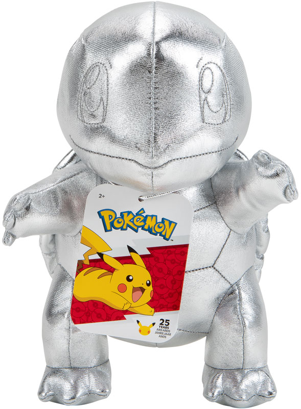 Wholesalers of Pokemon 25th Celebration Silver Squirtle Plush toys