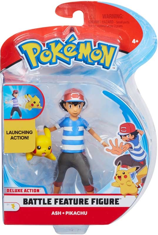 Wholesalers of Pokemon 4.5 Inch Battle Feature Figure - Ash And Pikachu toys