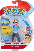 Wholesalers of Pokemon 4.5 Inch Battle Feature Figure - Ash And Pikachu toys image