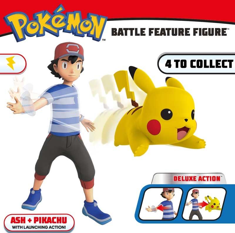 POKEMON Pikachu e Ash POKEMON BATTLE caratteristica POKEMON Collectables