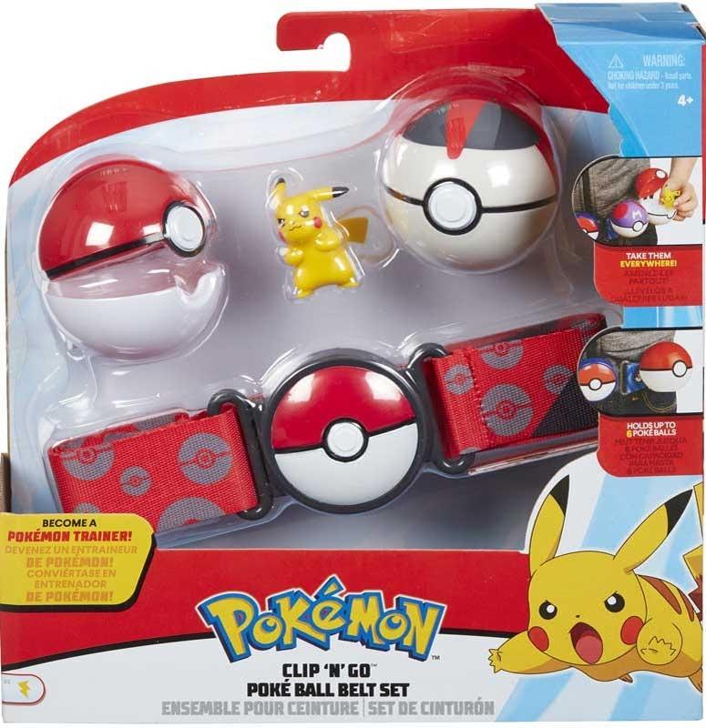 Wholesalers of Pokemon Clip N Go Poke Ball Belt Set - Pikachu toys