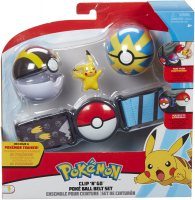 Wholesalers of Pokemon Clip N Go Poke Ball Belt Set - W5 Pikachu toys image