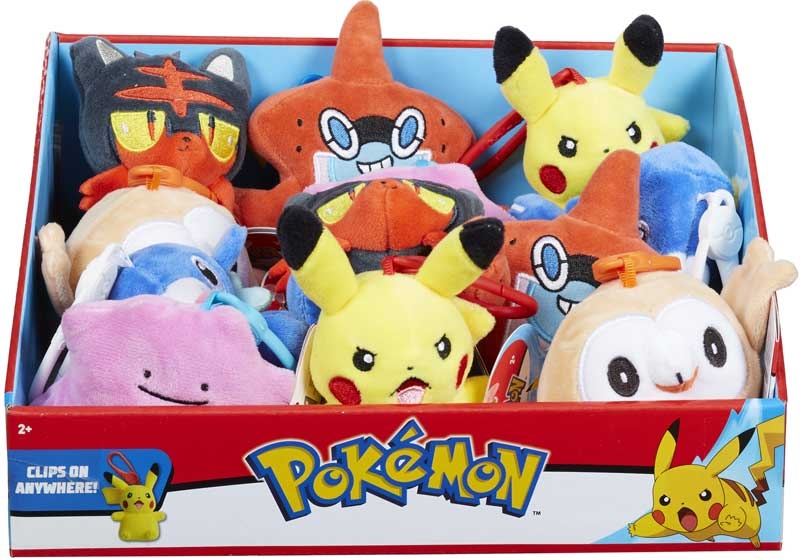 Wholesalers of Pokemon Clip-on Plush toys