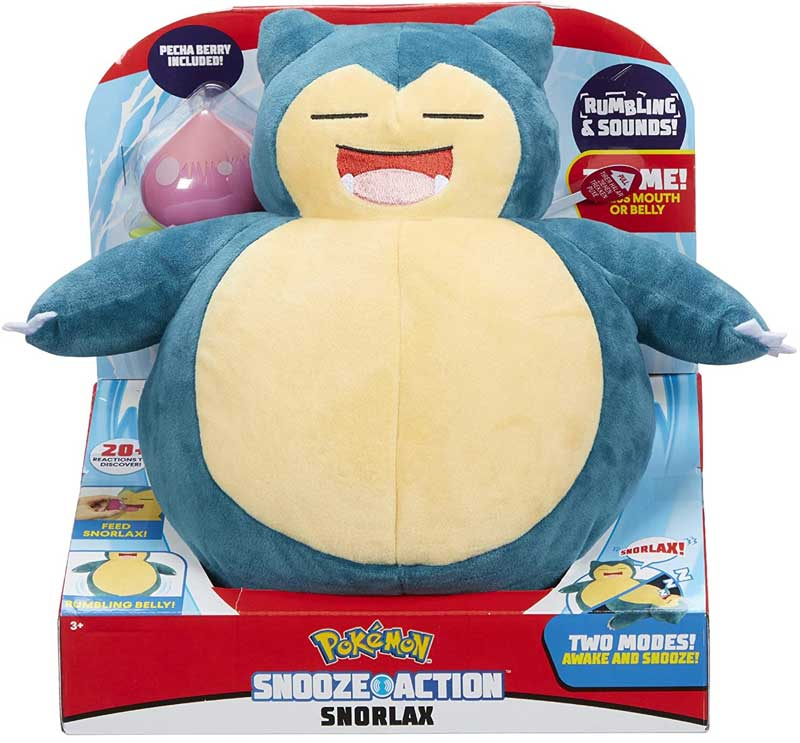 Wholesalers of Pokemon Snooze Action Snorlax toys