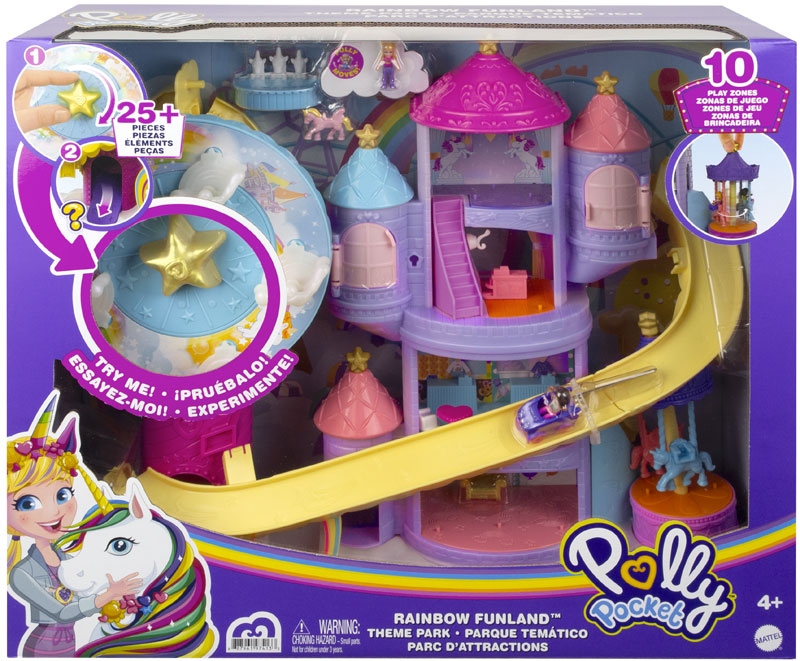 Wholesalers of Polly Pocket Ainbow Funland Theme Park toys