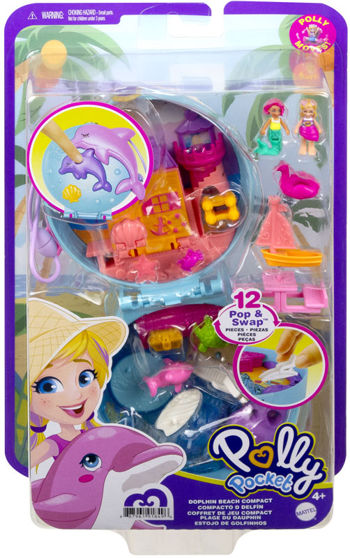 Wholesalers of Polly Pocket Big Pocket World Dolphin Beach Compact toys