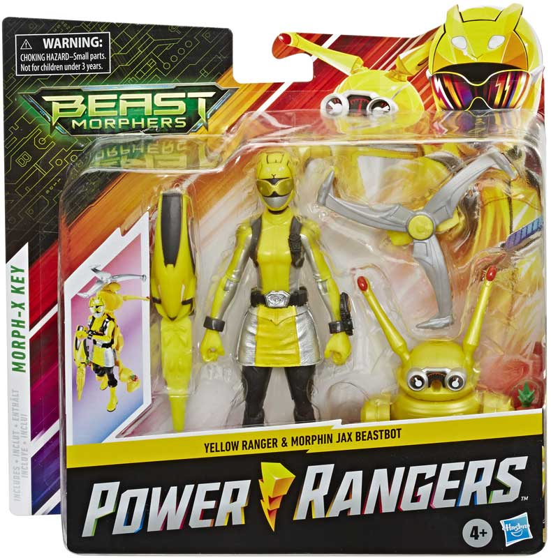 Wholesalers of Power Rangers 6in Bmr Ylw Ranger Jax Bb Pack toys