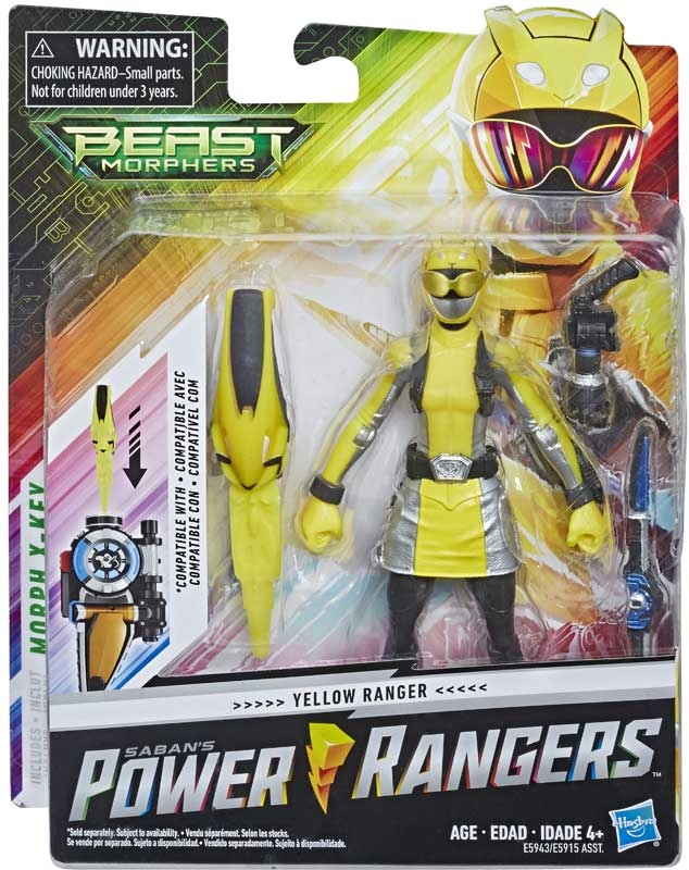 Wholesalers of Power Rangers Beast Morphers Yellow Ranger 6 In toys